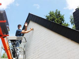 Peinture pour façade extérieure